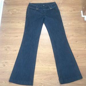 Tyte Size 7 Denim Blue Jeans Boot Cut Stretch Fit